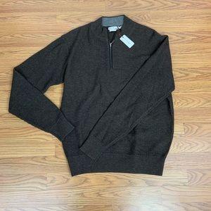Peter Millar Men's Brown Zip-Up Jacket - Sz Large